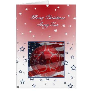 Cartão Filho do exército do Feliz Natal