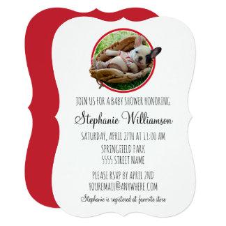 Cartão Filhote de cachorro bonito em uma luva de basebol
