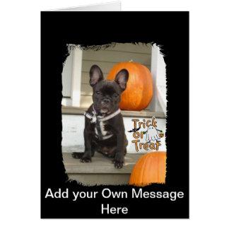 Cartão Filhote de cachorro da doçura ou travessura