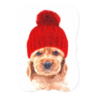 Cartão Filhote de cachorro de cocker spaniel com retrato
