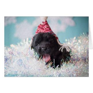 Cartão Filhote de cachorro de Newfie dos cumprimentos das