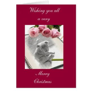Cartão Filhote de cachorro de Staffordshire bull terrier