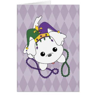 Cartão Filhote de cachorro do carnaval