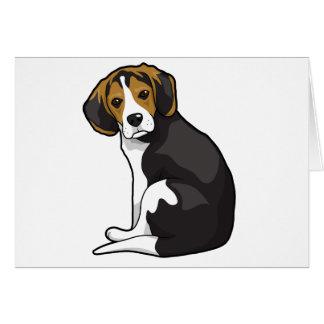 Cartão Filhote de cachorro do lebreiro