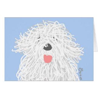 Cartão Filhote de cachorro inglês velho do Sheepdog