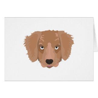 Cartão Filhote de cachorro insolente bonito