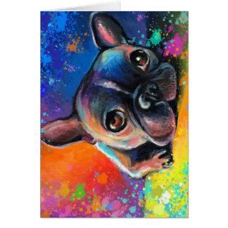 Cartão Filhote de cachorro lunático bonito Novikova do