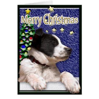 Cartão Filhote de cachorro preto e branco de border
