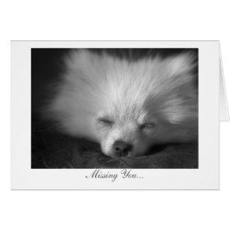 Cartão Filhote de cachorro sonolento - faltando o