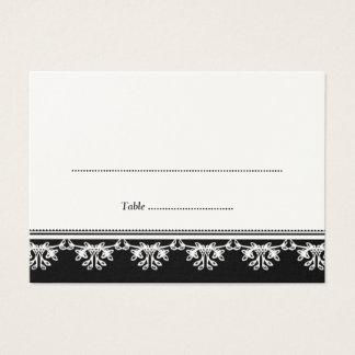 Cartão filigrana preto do lugar da escolta do