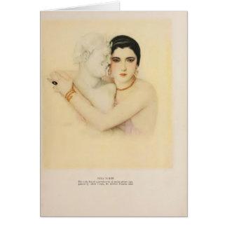 Cartão Filme silencioso do retrato 1923 da arte do