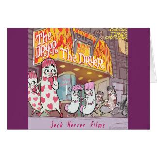Cartão Filmes de terror das meias o secador engraçado