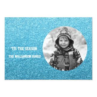 Cartão Filtro preto e branco da foto do brilho azul do