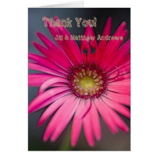 Cartão Fim-acima cor-de-rosa da flor do Gerbera