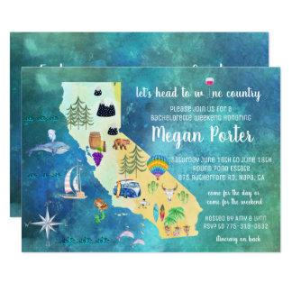 Cartão Fim de semana de Bachelorette da região vinícola