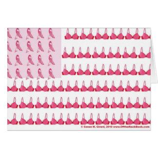 Cartão Final da bandeira do cancro da mama