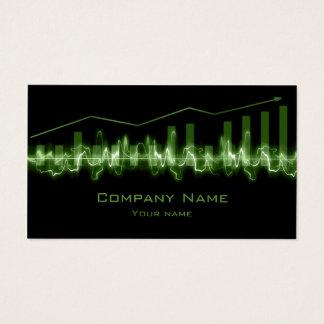 Cartão financeiro do preto do gráfico linear de