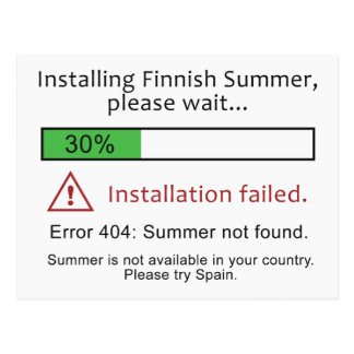Cartão finlandês engraçado do verão