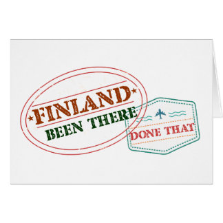 Cartão Finlandia feito lá isso