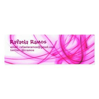 Cartão Fino Light Rosa Cartões De Visitas