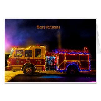 Cartão Firetruck do Natal