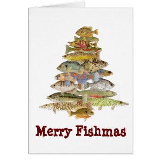 Cartão Fishmas alegre
