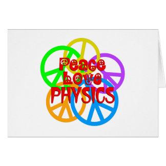Cartão Física do amor da paz