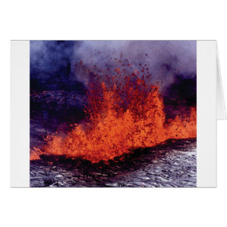 Cartão fissura da rachadura da lava