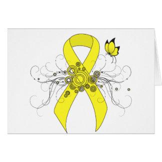 Cartão Fita amarela com borboleta