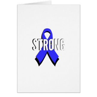 Cartão Fita azul do cancro do cólon forte