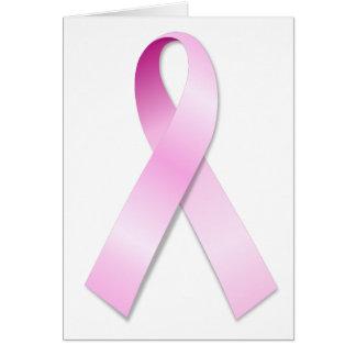 Cartão Fita cor-de-rosa