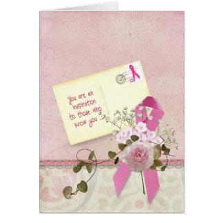 Cartão Fita cor-de-rosa inspirada