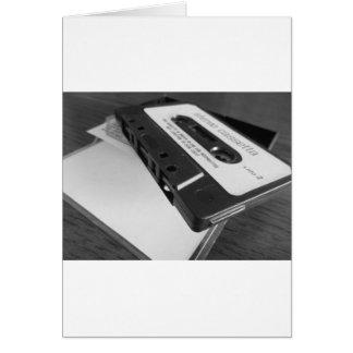 Cartão Fita da cassete áudio do vintage na mesa de