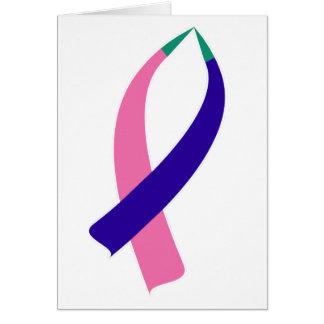 Cartão Fita da consciência (cancer de tiróide)