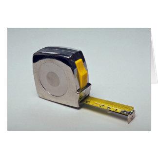 Cartão Fita para objetos de medição