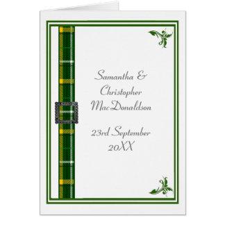 Cartão Fita verde e branca 2 do tartan