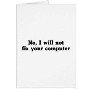 Cartão Fixe seu computador