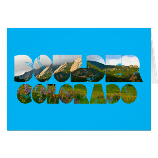 Cartão Flairons, Boulder Colorado
