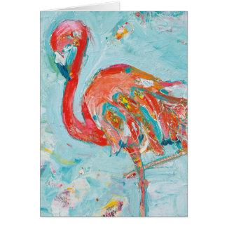 Cartão Flamingo brilhante