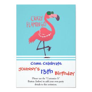 Cartão Flamingo louco