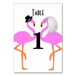 Cartão Flamingos cor-de-rosa bonitos noiva & casamento do