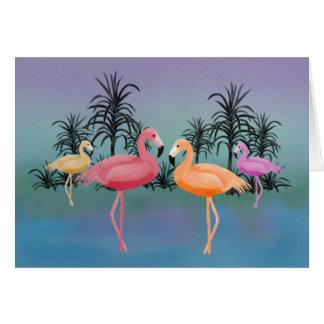 Cartão Flamingos fabulosos