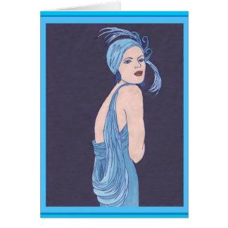 Cartão Flapper azul