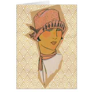 Cartão Flapper do art deco