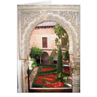 Cartão Flash do jardim de Alhambra do La de Granada