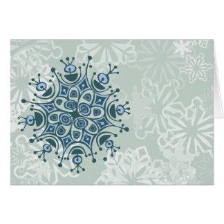 Cartão Floco de neve azul