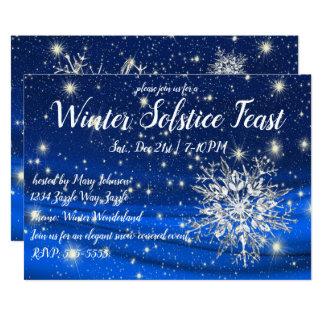 Cartão Floco de neve do solstício de inverno