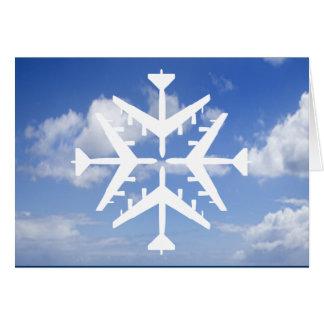Cartão Floco de neve dos aviões B-52