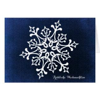 Cartão Floco de neve Fröhliche Weihnachten