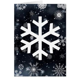 Cartão Flocos de neve